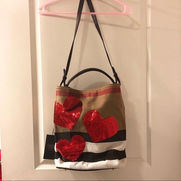 cd346c0a61 Burberry Bags   Nwt Ashby Medium Heart Check Canvas Bag   Poshmark